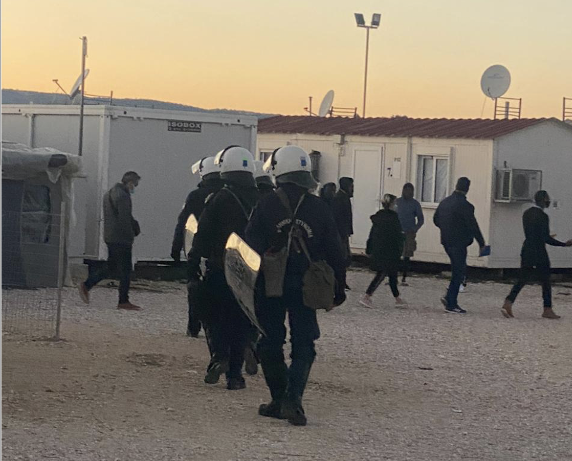 Riot Police, forced evictions, refugees in Greece, refugee, refugee camps, Katsikas, Greece, Griechenland, Soup and Socks